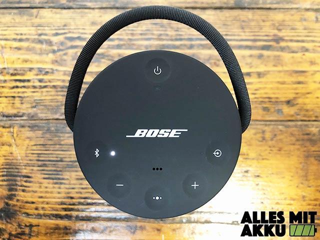 Bose SoundLink Revolve+ Test - Bedienung