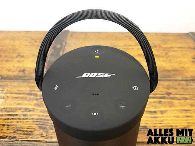 Bose SoundLink Revolve+ Test - Oben