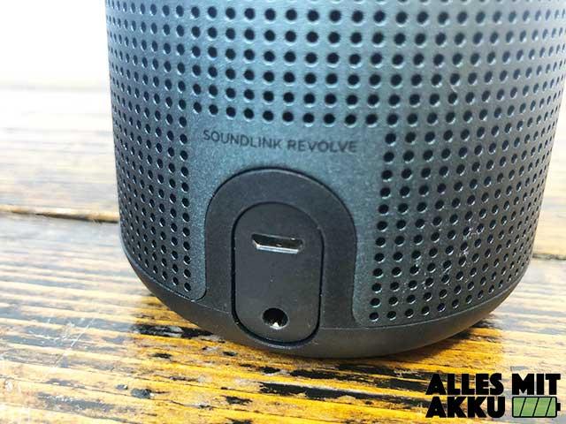 Bose SoundLink Revolve Test - Anschlüsse