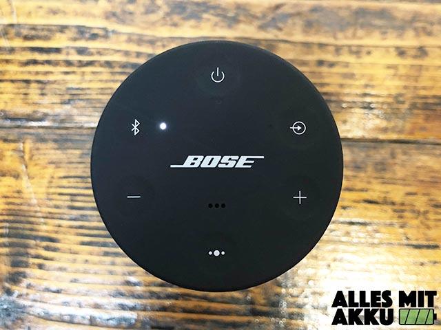 Bose SoundLink Revolve Test - Bedienung