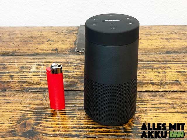 Bose SoundLink Revolve Test - Größenvergleich
