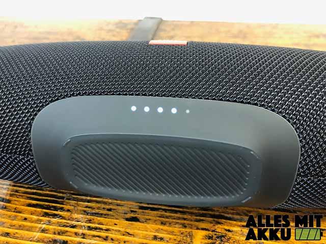 JBL Charge 4 Test - Lautstärke Anzeige