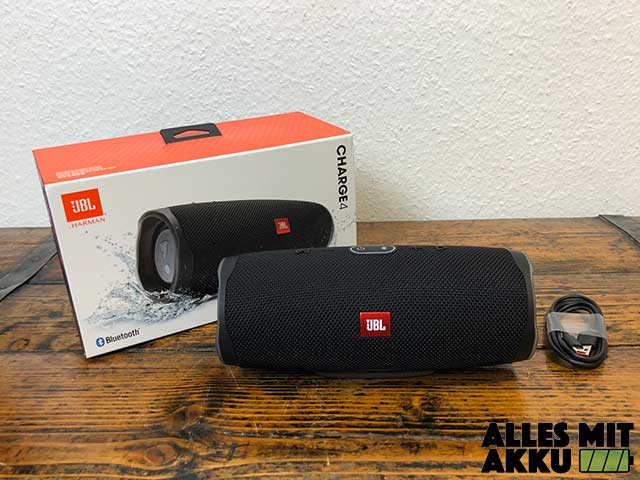 JBL Charge 4 Test - Lieferumfang