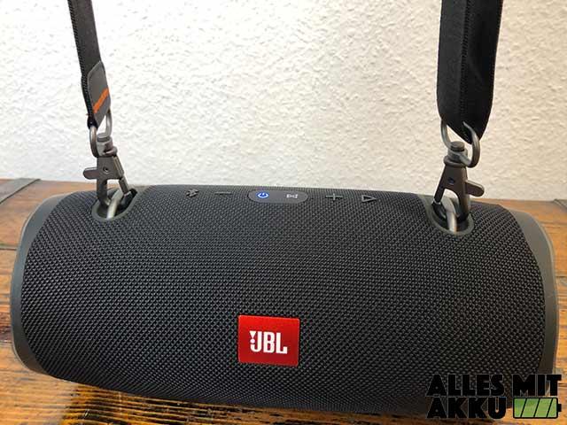 JBL Xtreme 2 Test - Tragegurt