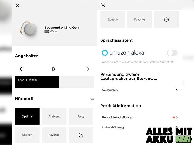 Bang & Olufsen Beosound A1 Test - App
