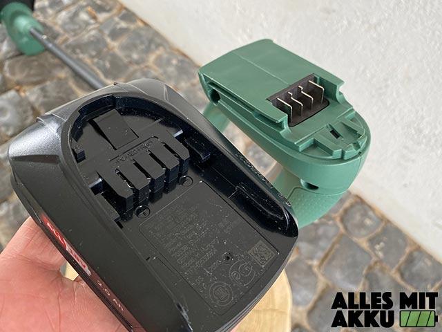 Bosch EasyGrassCut 18-230 Test - Akku Aufnahme