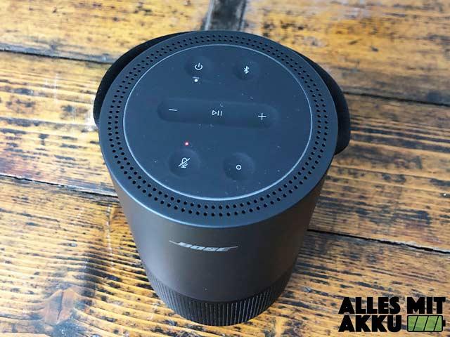 Bose Portable Smart Speaker Test - Bedienung