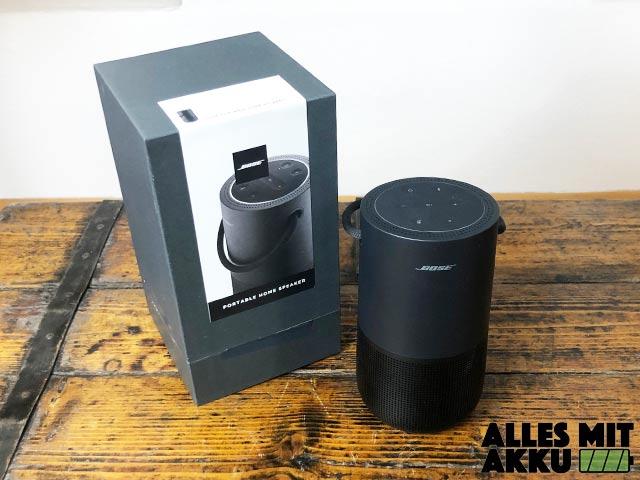 Bose Portable Smart Speaker Test - Lieferumfang
