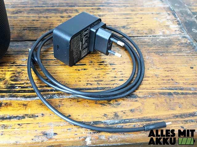 Bose Portable Smart Speaker Test - Netzteil
