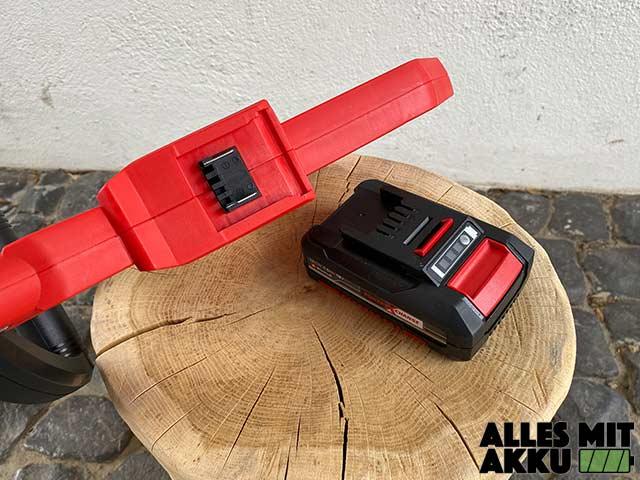 Einhell GC-CT 18/24 Li P Kit Power X-Change Test - Akku Aufnahme