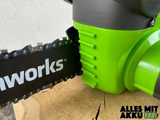 Greenworks G40CS30K2 Test - Anschlagkrallen