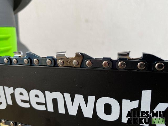 Greenworks G40CS30K2 Test - Sägekette
