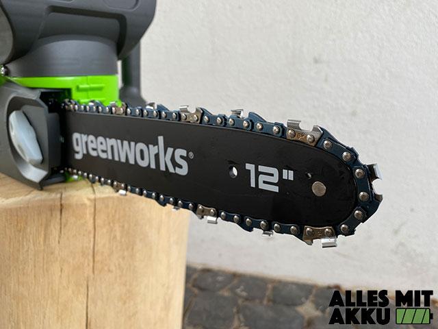 Greenworks G40CS30K2 Test - Schwert