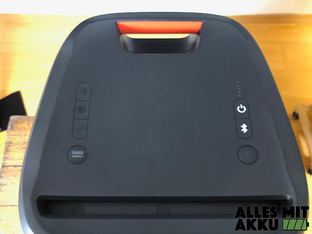 JBL PartyBox 300 Test - Bedienung