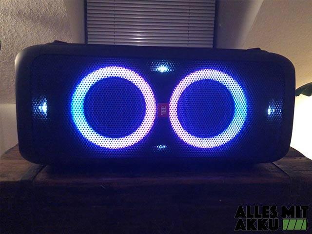 JBL PartyBox 300 Test - Leuchtelemente