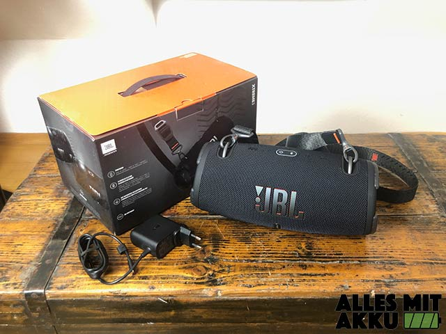 JBL Xtreme 3 Test - Lieferumfang