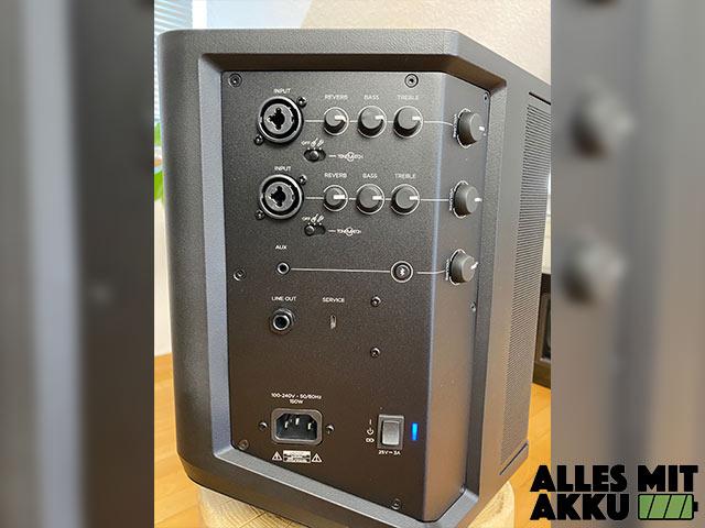 Bose S1 Pro System Test - Anschlüsse - Regler 2
