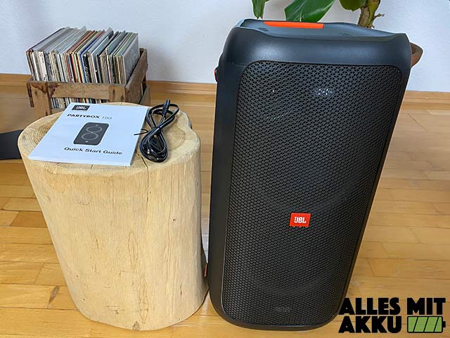 JBL PartyBox 100 Test - Lieferumfang