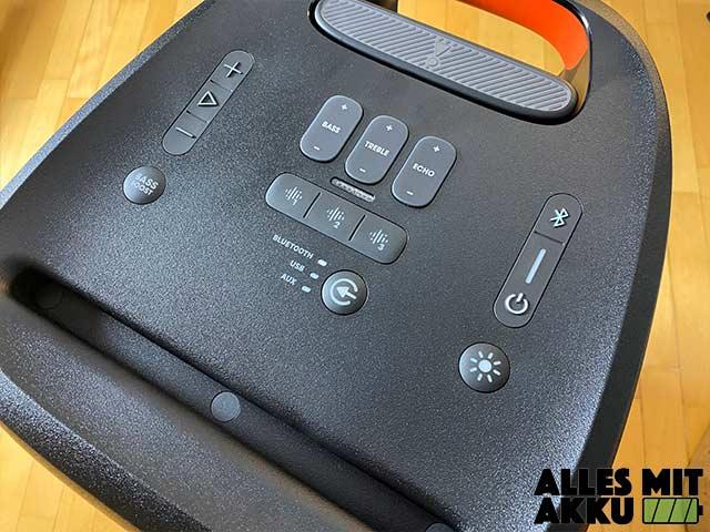 JBL PartyBox 310 Test - Bedienung