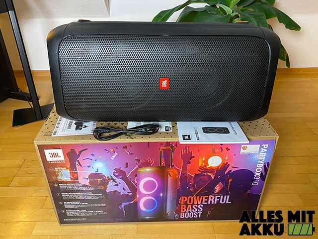 JBL PartyBox 310 Test - Lieferumfang
