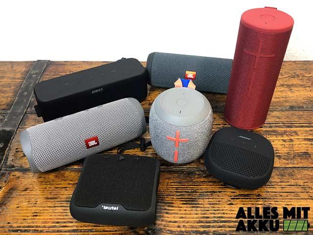 Bluetooth Lautsprecher Test - 50 bis 100 Euro