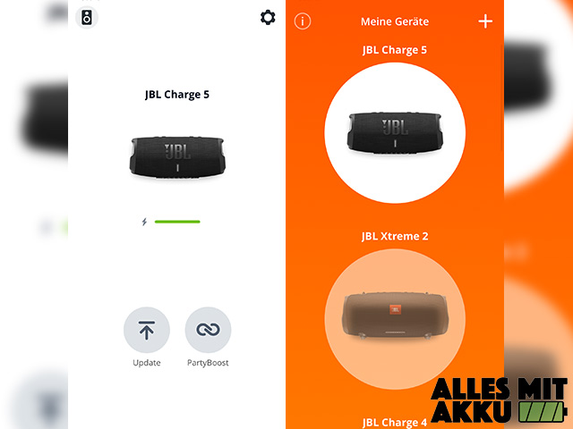JBL Charge 5 Test - App