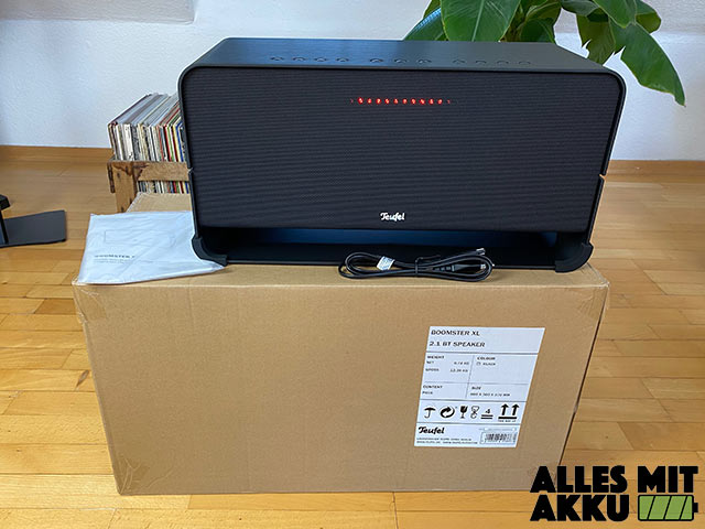 Teufel Boomster XL Test - Lieferumfang
