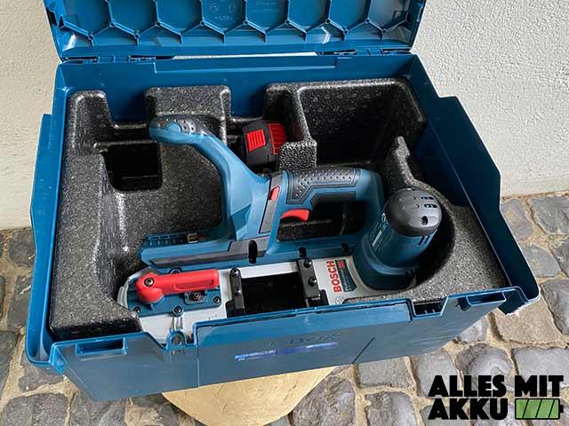 Akku Bandsägen Test - Bosch GCB-18V-63 - Koffer