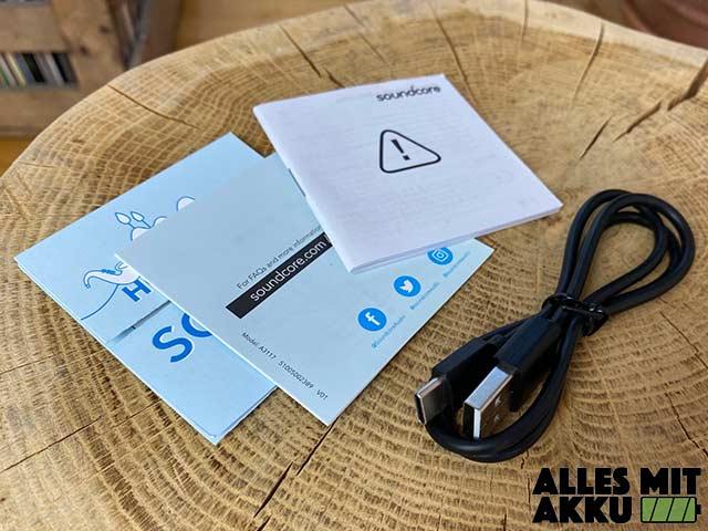 Anker SoundCore 3 Test - Zubehör