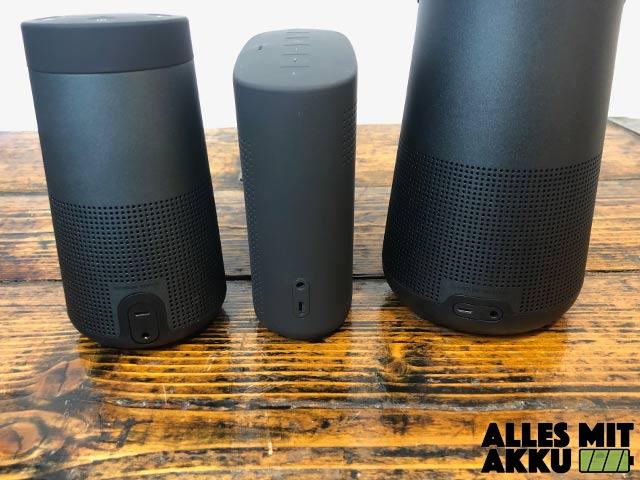 Bluetooth Lautsprecher von 100 bis 250 € - Bose Anschlüsse