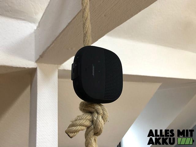 Bluetooth Lautsprecher von 50 bis 100 € - Bose Soundlink Micro - Seil