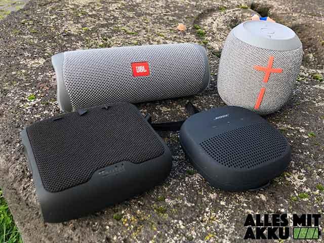 Bluetooth Lautsprecher von 50 bis 100 € - Outdoor