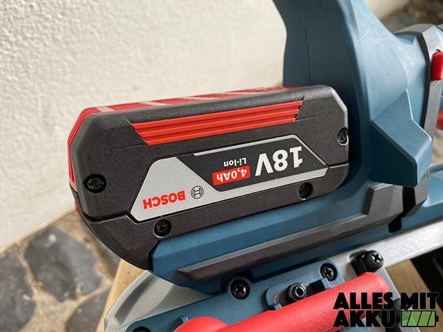 Bosch Akku Bandsäge GCB-18V-63 Test - Akku