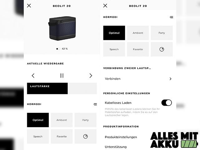 Bang & Olufsen Beolit 20 Test - App